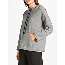Buy Max Studio Thin Stripe Hooded Sweatshirt, Black/White Online at johnlewis.com
