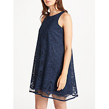Buy Max Studio Sleelevess Lace Trapeze Dress, Navy Online at johnlewis.com
