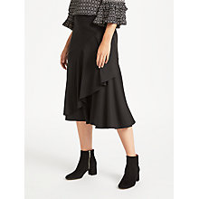Buy Max Studio Drop Hem Jersey Skirt, Black Online at johnlewis.com
