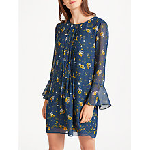 Buy Max Studio Bell Sleeve Floral Print Dress, Blue/Yellow Online at johnlewis.com