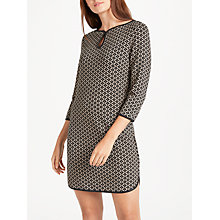 Buy Max Studio Jacquard Tunic Dress, Black/Ecru Online at johnlewis.com