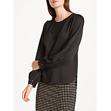 Buy Max Studio Cut Out Detail Ponte Top, Black Online at johnlewis.com