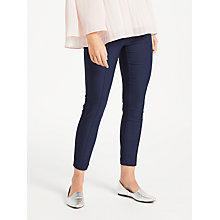 Buy Max Studio Slim Leg Trousers, Navy Online at johnlewis.com