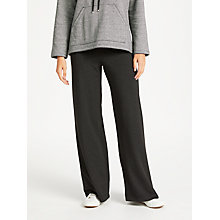 Buy Max Studio Wide Leg Elastic Waist Trousers, Black Online at johnlewis.com