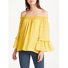 Buy Max Studio Off Shoulder Top, Mustard Online at johnlewis.com
