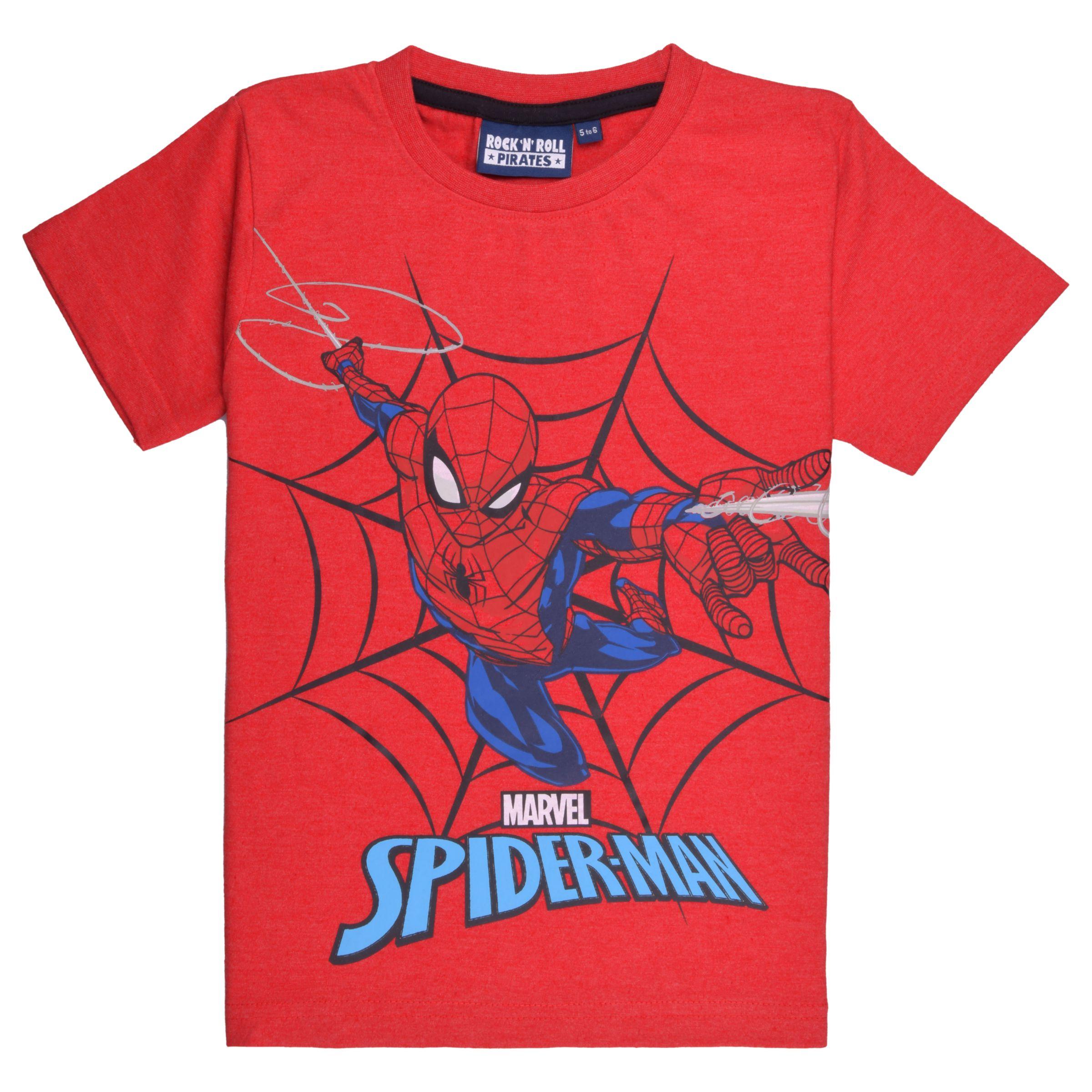 bb6d9a2d Spider-Man Boys' Short Sleeve T-Shirt, Red at John Lewis & Partners