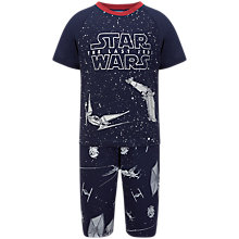 Buy Star Wars Children's Episode 8 Glow In The Dark Short Pyjamas, Blue Online at johnlewis.com