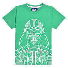 Buy Star Wars Darth Vadar Children's T-Shirt, Green Online at johnlewis.com