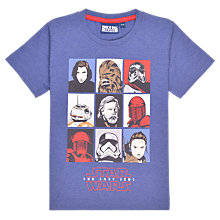 Buy Star Wars Children's Episode 8 Character T-Shirt, Blue Online at johnlewis.com
