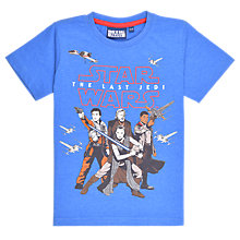 Buy Star Wars Children's Episode 8 The Last Jedi T-Shirt, Blue Online at johnlewis.com
