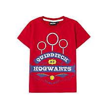 Buy Harry Potter Children's Quidditch T-Shirt, Red Online at johnlewis.com