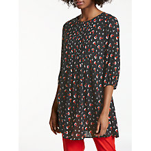 Buy Boden Aurelia Tunic, Black Bramble Online at johnlewis.com