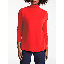 Buy Boden Imogen Roll Neck Jumper, Post Box Red Online at johnlewis.com