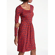 Buy Boden Mabel Jersey Dress, Post Box Red Online at johnlewis.com