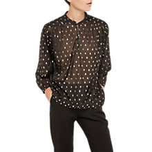 Buy Gerard Darel Bliss Blouse, Black Online at johnlewis.com