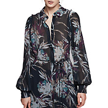 Buy Reiss Antonella High Neck Floral Print Shirt Dress, Multi Online at johnlewis.com