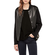 Buy Gerard Darel Orso Leather Bomber Jacket, Black Online at johnlewis.com