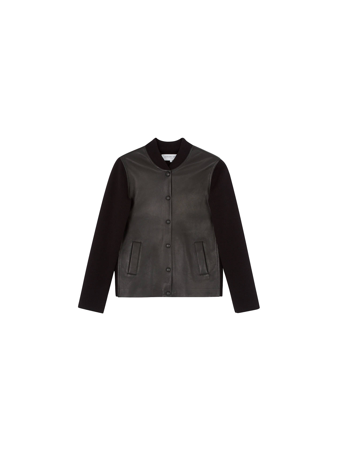 BuyGerard Darel Orso Leather Bomber Jacket, Black, 6 Online at johnlewis.com