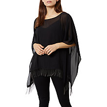 Buy Fenn Wright Manson Petite Meanca Poncho, Black Online at johnlewis.com
