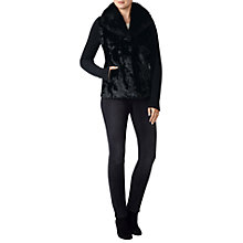 Buy Pure Collection Shearling Cashmere Jacket, Black Online at johnlewis.com