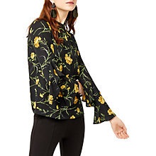 Buy Warehouse Carnation Print Top, Black Pattern Online at johnlewis.com