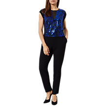 Buy Fenn Wright Manson Petite Corina Jumpsuit, Black/Blue Online at johnlewis.com
