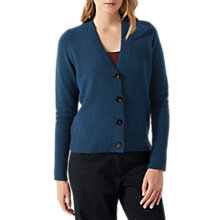 Buy Jigsaw Rib Back Cardigan, Dark Petrol Online at johnlewis.com
