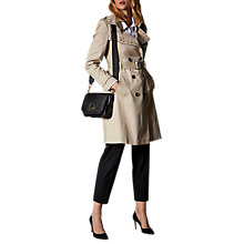 Buy Karen Millen Profile Studded Trench Coat, Stone Online at johnlewis.com