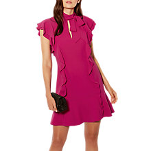 Buy Karen Millen Ruffle Mini Dress, Pink Online at johnlewis.com