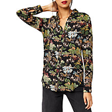 Buy Warehouse Deer Woodland Shirt, Black Pattern Online at johnlewis.com