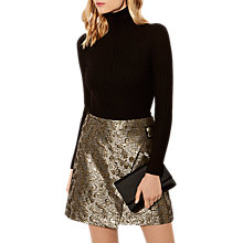 Buy Karen Millen Turtleneck Knitted Jumper, Black Online at johnlewis.com