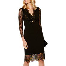 Buy Karen Millen Lingerie Lace Dress, Black/Multi Online at johnlewis.com
