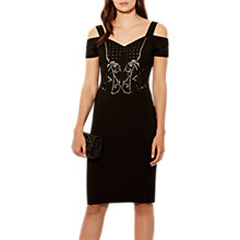 Buy Karen Millen Geometric Embellished Dress, Black/Multi Online at johnlewis.com