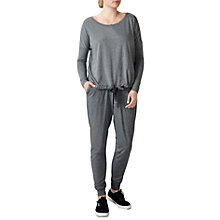 Buy Pure Collection Drawstring Jersey Sweat Top, Charcoal Marl Online at johnlewis.com
