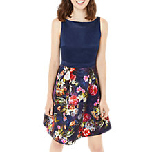 Buy Oasis Winter Floral Skater Dress, Multi/Blue Online at johnlewis.com