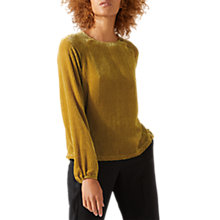 Buy Jigsaw Velvet Spot Long Sleeve Blouse Online at johnlewis.com