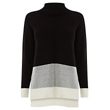 Buy Oasis Funnel Neck Colour Block Jumper, Multi Online at johnlewis.com