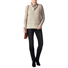 Buy Pure Collection Textured Cashmere Jumper, Natural Online at johnlewis.com