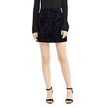 Buy Oasis Flocked Mini Skirt, Navy Online at johnlewis.com