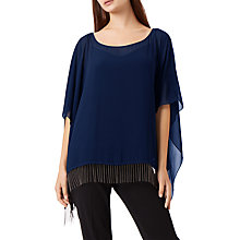 Buy Fenn Wright Manson Meanca Poncho, Navy Online at johnlewis.com