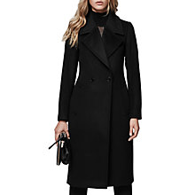 Buy Reiss Lawson Faux Fur Collared Coat, Black Online at johnlewis.com