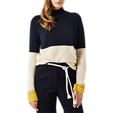 Buy Jigsaw Cashmere Colour Block Jumper, Navy/Multi Online at johnlewis.com