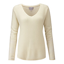 Buy Pure Collection Gassato Cashmere Chevron Jumper Online at johnlewis.com