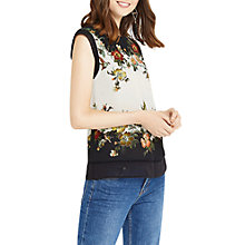 Buy Oasis Rosetti Placement T-Shirt,Cream/Multi Online at johnlewis.com