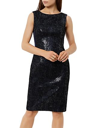 Fenn Wright Manson Petite Roma Sequin Dress, Navy