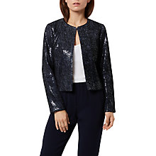 Buy Fenn Wright Manson Petite Roma Sequin Jacket, Navy Online at johnlewis.com