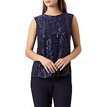 Buy Fenn Wright Manson Zara Sequin Top, Navy Online at johnlewis.com
