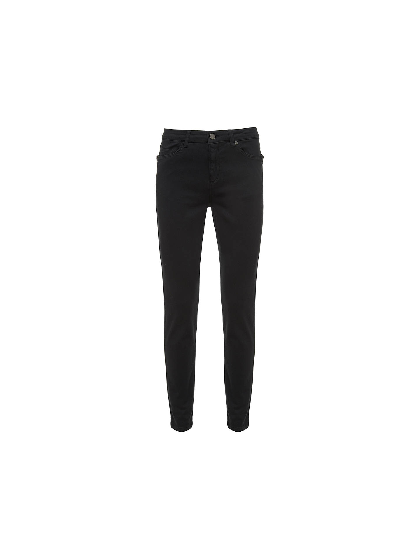 Buy Mint Velvet Orlando Skinny Jeans, Black, 6L Online at johnlewis.com