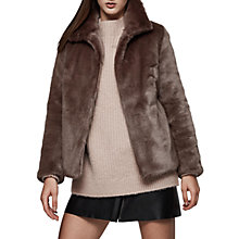Buy Reiss Orsa Faux Fur Coat Online at johnlewis.com