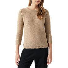 Buy Jigsaw Sparkle Half Sleeve Jumper, Oyster Online at johnlewis.com
